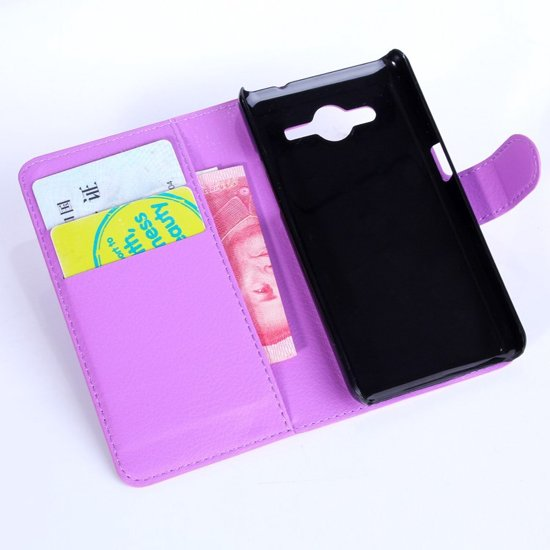Alcatel One Touch Pop D5 (OT-5038E) Wallet Stand Hoesje Paars in Vianen NB