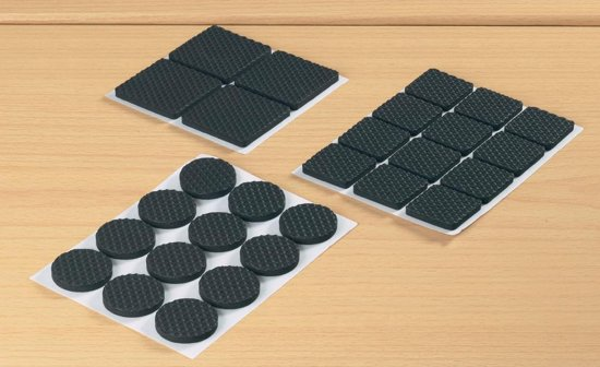 Vloerbeschermer Set - Antikras Vilt / Anti-Slip Stoelpoot - Rubber Stoel Beschermers