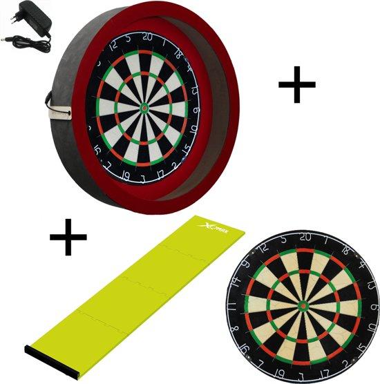 Dragon darts - Sorpresa PRO set - Rood-Groen - dartbord - dartmat - dartbord verlichting