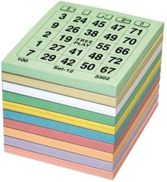 Afbeelding van Bingokaarten - Bingo Bloks - Bingo Blokken 5x100 / 1-75 speelgoed