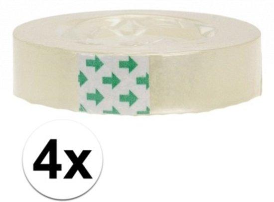 4 rolletjes plakband