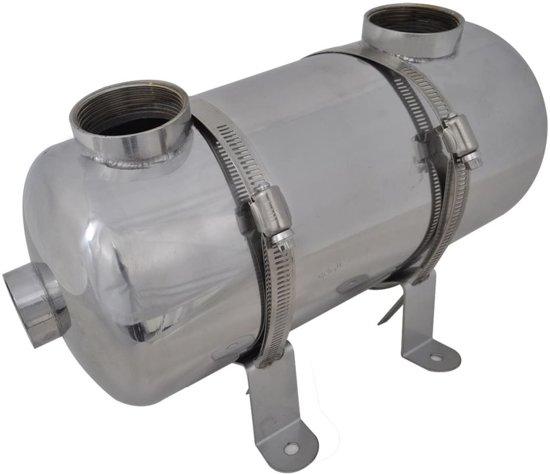 vidaXL Zwembad warmtewisselaar 355 x 134 mm 40 kW