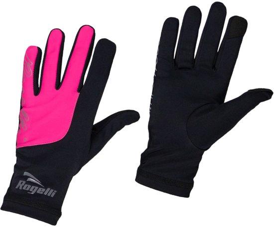 Rogelli Touch Running Gloves Dames Sporthandschoenen - Vrouwen - zwart/roze