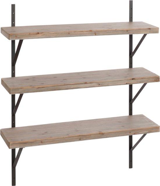 Wandrek levi hout metaal - Houten keuken en metaal ...