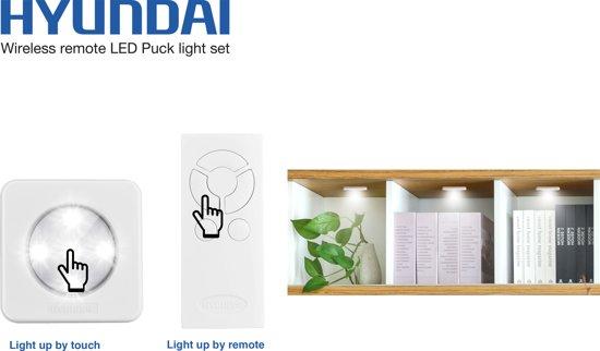 bol.com | Hyundai - 4 + 1 set - USB oplaadbare draadloze LED spots ...