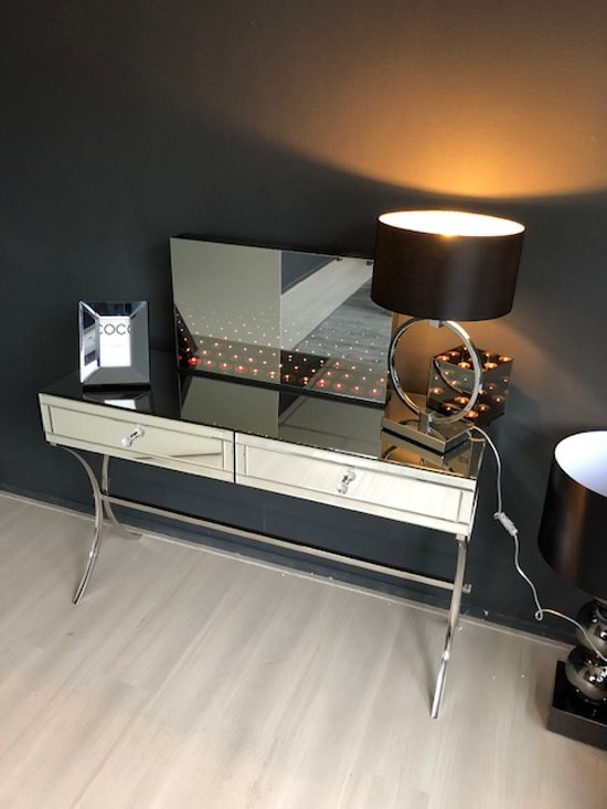 Side Table Spiegel.Bol Com Sidetable Spiegel Met Chroompoten
