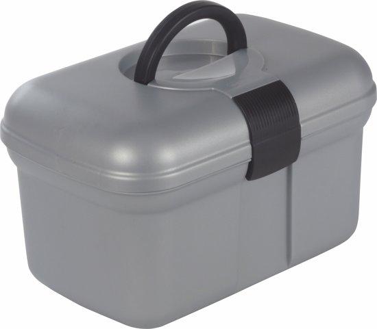 Curver Naaidoos Opbergbox - 38x23xh26 - Kunststof - Zilver