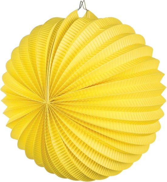 24 stuks: Papieren ballonlampion - geel - 23cm