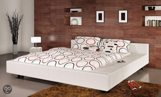 Wit Bed 2 Persoons.Bol Com Vidaxl Bed 2 Persoons Bed Futon Wit Leer 180 X 200