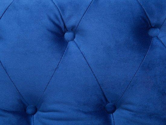 Beliani 3-Zits bank met knopen Blauw Stof