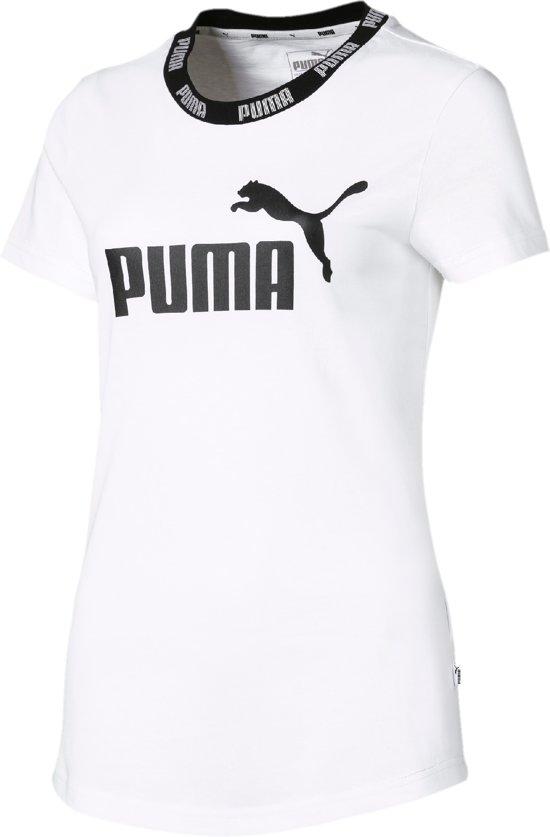 DamesWhite Shirt Amplified Tee Puma Puma Amplified Tee DamesWhite Shirt CBtrxQodsh