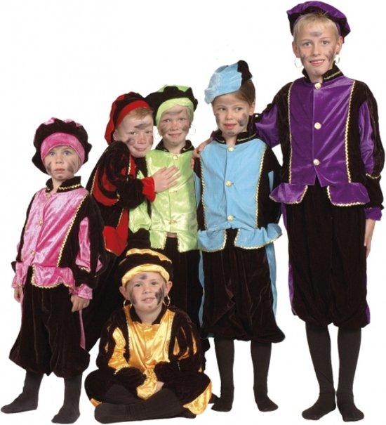 Luxe groene Zwarte Piet pak voor kinderen 4-6 jaar (116)