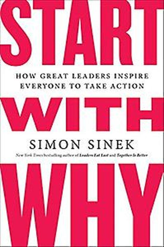 Boek cover Start with Why van Simon Sinek (Paperback)