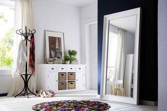 Grote Spiegel Hout : Bol.com grote witte spiegel 200 x 65 x 100 cm