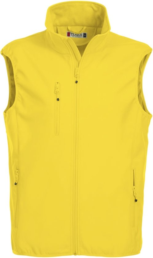 Clique Basic Softshell Hr Bodywarmer Lemon maat S