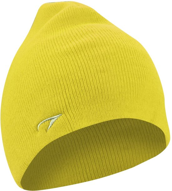 muts gebreid unisex geel one size