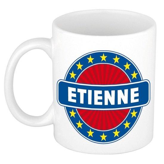 Etienne naam koffie mok / beker 300 ml  - namen mokken