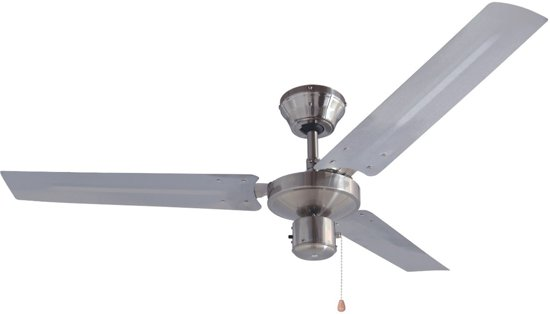 Bestron DT48C - Plafondventilator - Geborsteld RVS