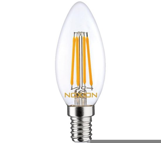 Noxion Lucent Filament LED Candle B35 E14 4.5W 827 | Extra Warm Wit - Dimbaar - Vervangt 40W