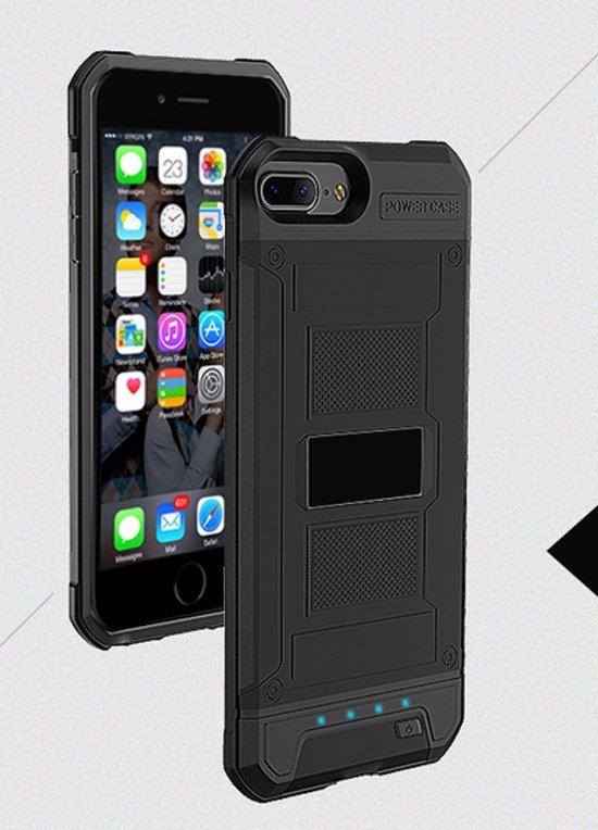 BestCases.nl Zwart Bumper batterij hoesje Apple iPhone 6 / 6s en Apple iPhone 7 / 8