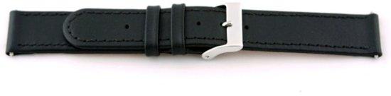 Horlogeband Universeel H100 Leder Zwart 22mm