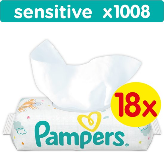 Pampers Sensitive - 1008 Stuks (18x56) - Billendoekjes