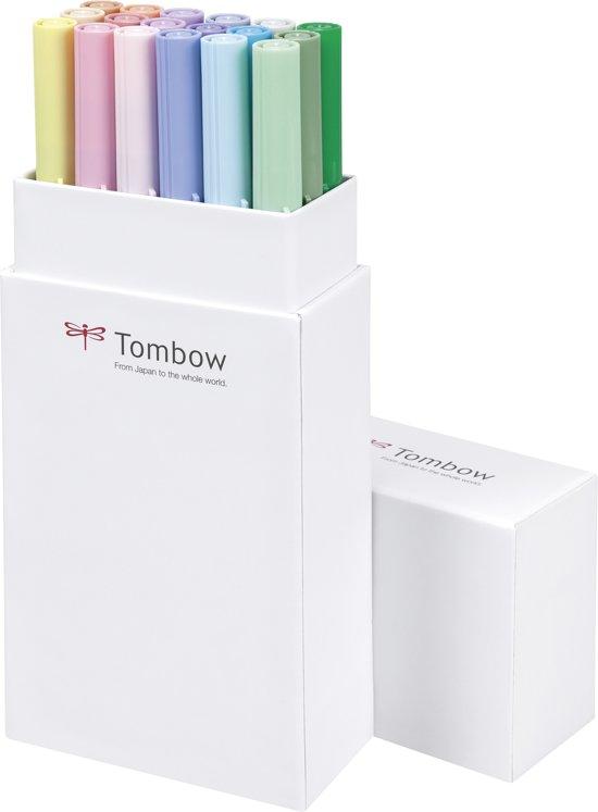 Tombow ABT Dual-Brush tekenpennen -Pastel kleuren - Set van 18