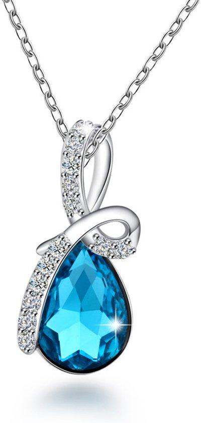 Fate Jewellery ketting FJ465 - Crystal Bow - 925 Zilver met Zirkonia kristallen - 45cm