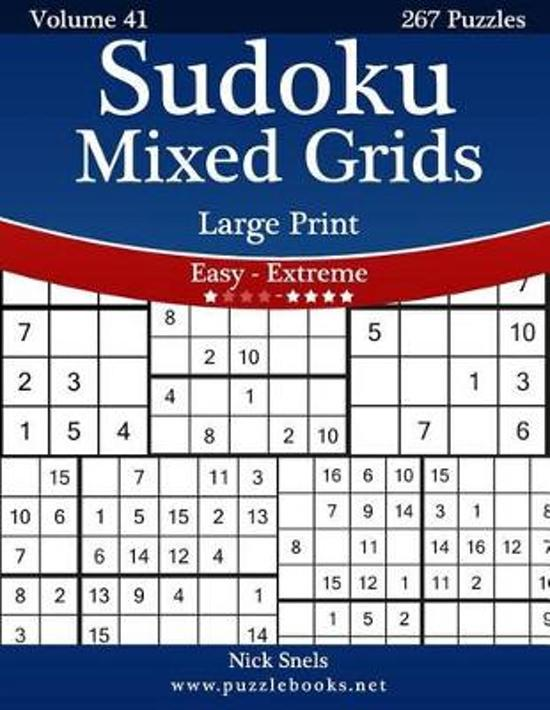 bol com   Sudoku Mixed Grids Large Print - Easy to Extreme - Volume