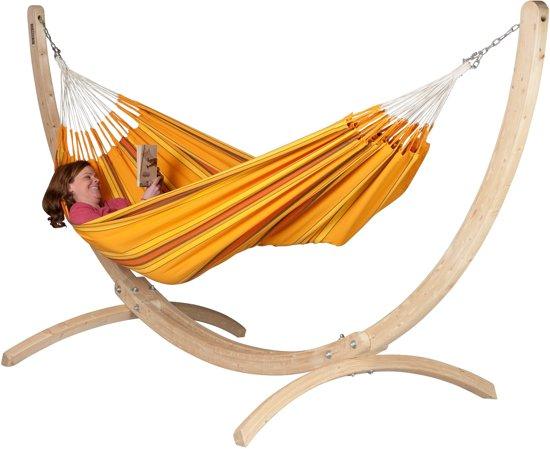 Hangmatset: 2-persoons hangmat CURRAMBERA apricot + Standaard 2-persoons hangmat CANOA