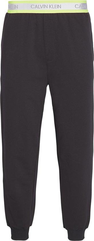 Calvin Klein - Heren Jogger Broek Zwart Neon Geel - M