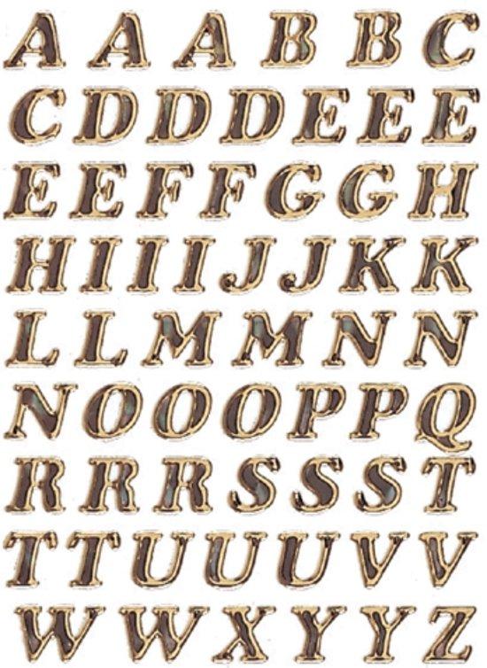 Herma 4192 Etiket met letters A-Z 8mm Goud
