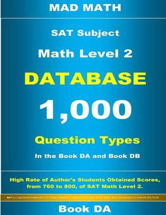 SAT Math Level 2 Database Book Da