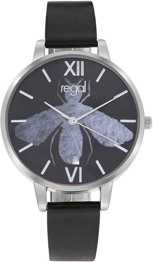Regal Horloges- Regal horloge met een zwarte leren band