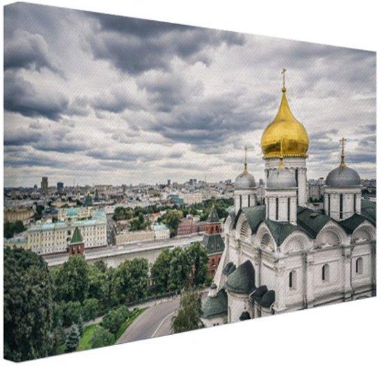 Kremlin van Moskou Canvas 60x40 cm - Foto print op Canvas schilderij (Wanddecoratie)
