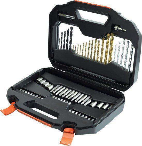 BLACK+DECKER - A7184-XJ - 70 delige Titanium boren en bits Family set