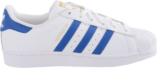 874b665d1df adidas Superstar Foundation Sportschoenen - Maat 36 2/3 - Unisex - wit/blauw