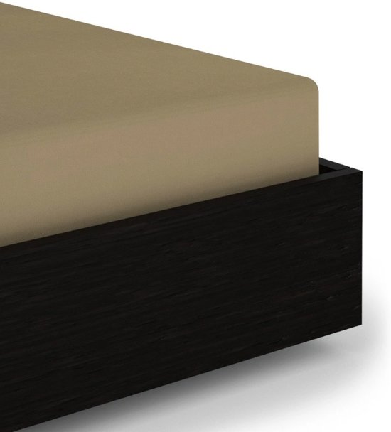 Hoogwaardige Katoen/Satijn Hoeslaken Zand | 90x200 | Zacht En Comfortabel | Elegante Glans