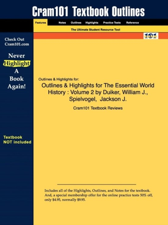Outlines & Highlights for the Essential World History