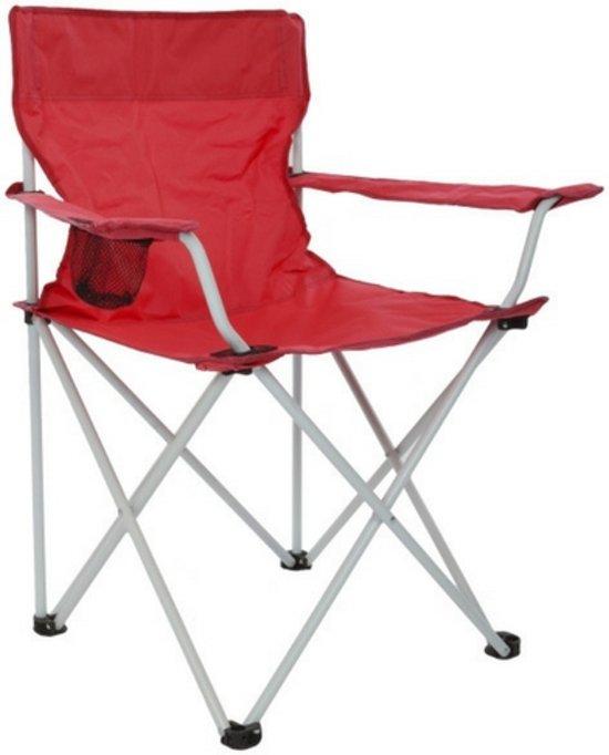Klapstoel Kind Camping.Camping Stoel Rood Vouwstoel Kampeerspullen Kampeer Artikelen Klapstoel Incl Draagtas