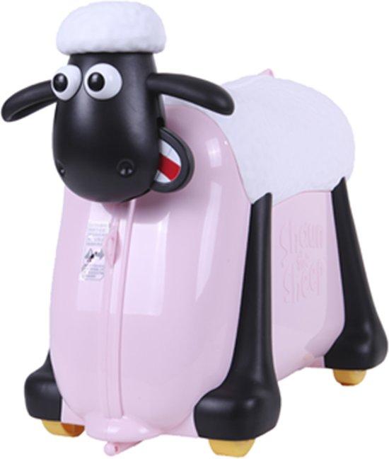 Shaun Het Schaap Koffer Kinderkoffer - Licht roze