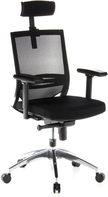 hjh office Porto max - Bureaustoel - Meshstof - Zwart