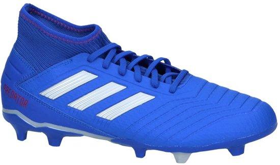 adidas Predator 19.3 Fg Voetbalschoenen Unisex - Blue/Silver - Maat 44