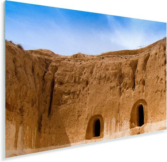 Ondergrondse huizen in het Afrikaanse Matmata in Tunesië Plexiglas 180x120 cm - Foto print op Glas (Plexiglas wanddecoratie) XXL / Groot formaat!