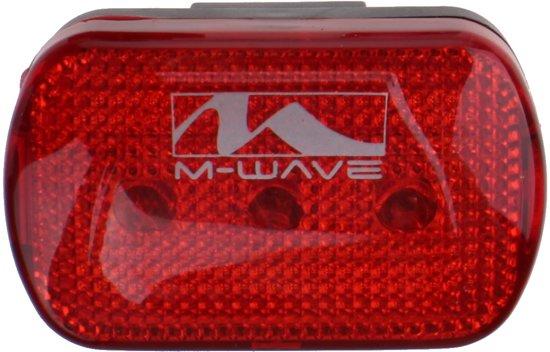 M-Wave Achterlicht - Fietsverlichting - LED - Batterij - Rood