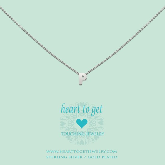 Heart to get Inital, silver,  letter P