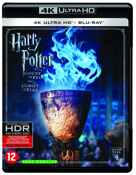 DVD cover van Harry Potter And The Goblet of Fire (4K Ultra HD Blu-ray)