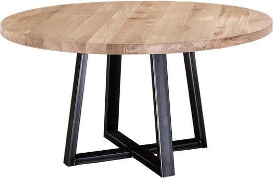 Ronde Eettafel 140 Cm Zwart.Table Du Sud Ronde Eiken Tafel Le Pizou 140 Cm