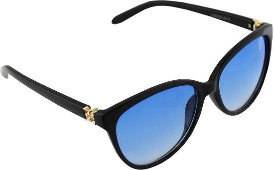 6a7b94f2368dd5 Zonnebril UV 400 Wayfarer Goud Zwart Blauw 2618 1