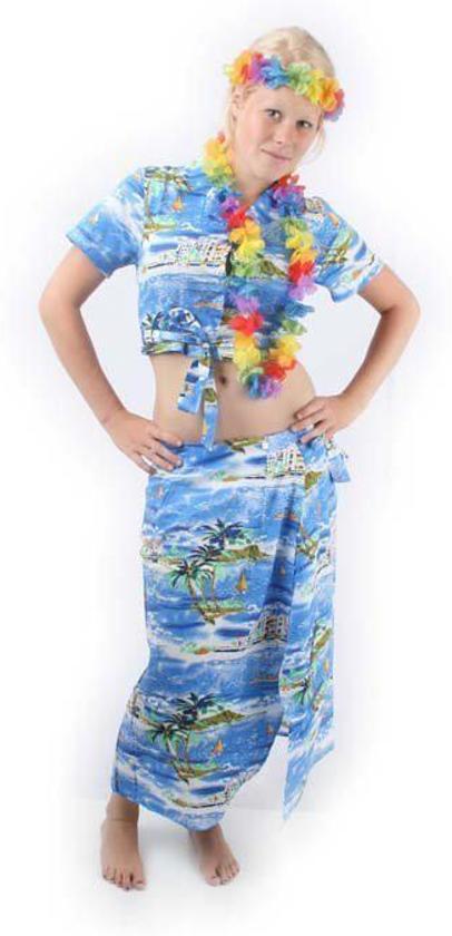 Hawaii Topje met Omslag - Maat 36 - Blauw